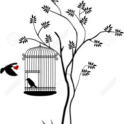 16685468-illustration-flying-birds-with-a-love-for-the-bird-in-the-cage-Stock-Photo
